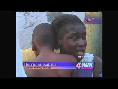 First live shot from Lower Ninth Ward during Katrina