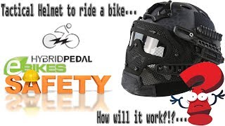 """This videos shows a new helmet I am going to be testing for riding on my ebike's since they are faster than a regular bicycle I did not want to use a regular bicycle helmet and they are not exactly a motorcycle so I did not want to use a motorcycle helmet...This  is a good middle point to try out safe but not too big or heavy and it has the modular system that allows for camera and flash light mounts, which is a great +PlusI will do a real time """"on the road"""" review later on..."""