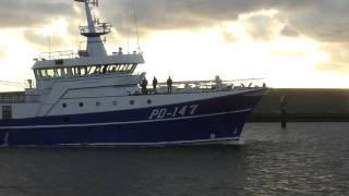 Verdronken Urker schipper aangekomen in Harlingen