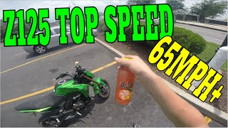 9. Z125 PRO TOP SPEED RUN, Forgot to Knock on Wood