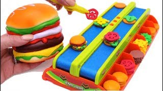 Video Hamburger Squishy Toy and Microwave Kitchen Toy Burger Mania Game Learn Fruits & Vegetables for Kids MP3, 3GP, MP4, WEBM, AVI, FLV Februari 2018