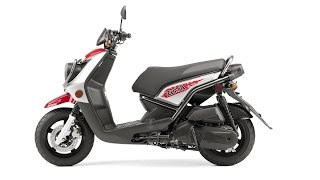 9. 2015 Yamaha Zuma 125, fully automatic C.V. transmission and pushbutton electric starting