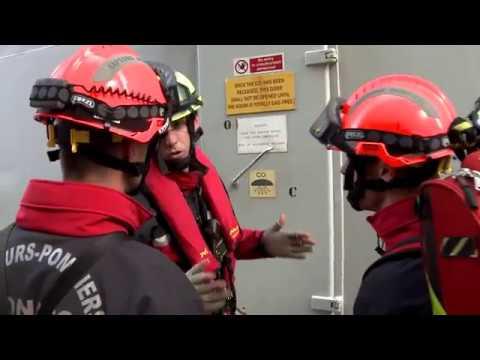 Simon Stevin : exercice de sauvetage à bord du navire