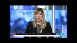 Catherine Viette presenting the news on France 24, 1/12/2014