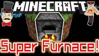 Minecraft 1.8 SUPER FURNACE Mod ! Power Speed Smelting with Lava Buckets !