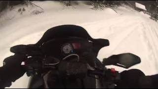 3. Shredding with Go Pro, 2008 Polaris Switchback 700