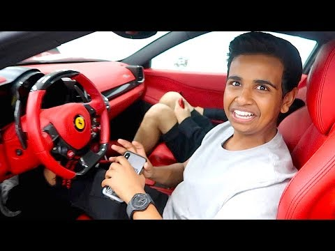HE RUINED MY FERRARI !!!