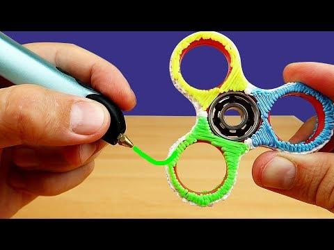Моя Новая 3D РУЧКА! Рисую СПИННЕР! (видео)