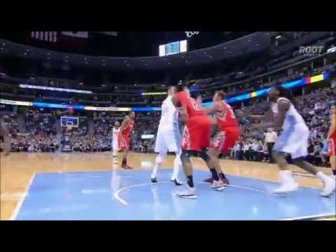 Donatas Motiejunas, Dwight Howard both block Jusuf Nurkic