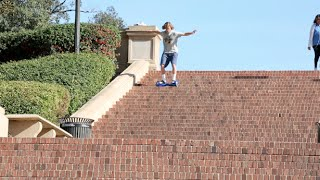 Going Down Stairs On A Hoverboard!