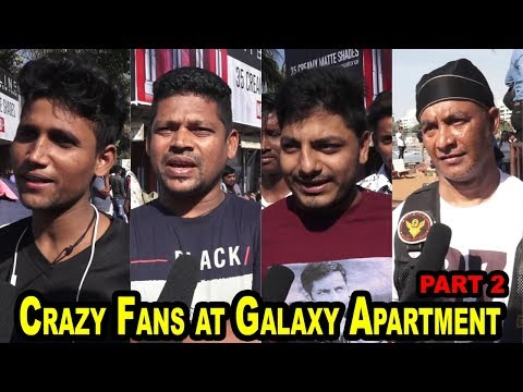 Crazy Fans at Galaxy Apartment Bandra  for Salman's Birthday Celebration Part 2
