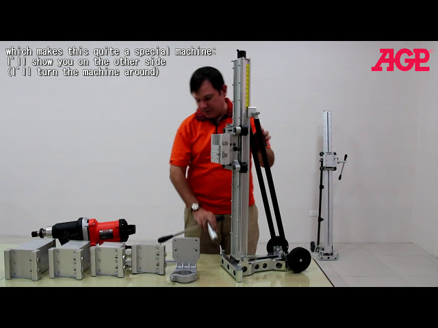AGP S500 Diamond Core Drill Stand – Introduction & Operation