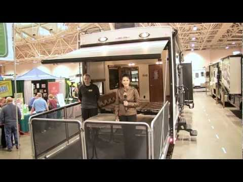 Keystone RV thumbnail for Video: Cathy Kay reports on the new Fuzion 390 with patio deck