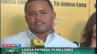 Leidsa entrega 70 millones de pesos