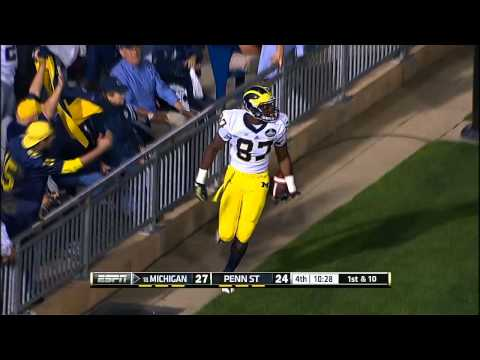 Devin Funchess 37-yard touchdown vs Penn St. 2013 video.