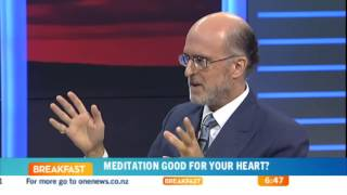 Dr. Robert Schneider on MIND-BODY-HEART tour -- TV talk show in New Zealand