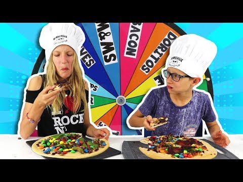 MYSTERY WHEEL OF PIZZA CHALLENGE!!!