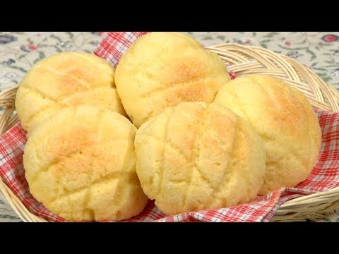 How To Make Melonpan (Melon Pan / Melon Bread Recipe) | Cooking With Dog