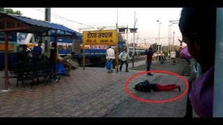 Daund India  city photo : GIRL FALLS DOWN From a Moving TRAIN : Dramatic Entry into Daund Junction (Indian Railways)