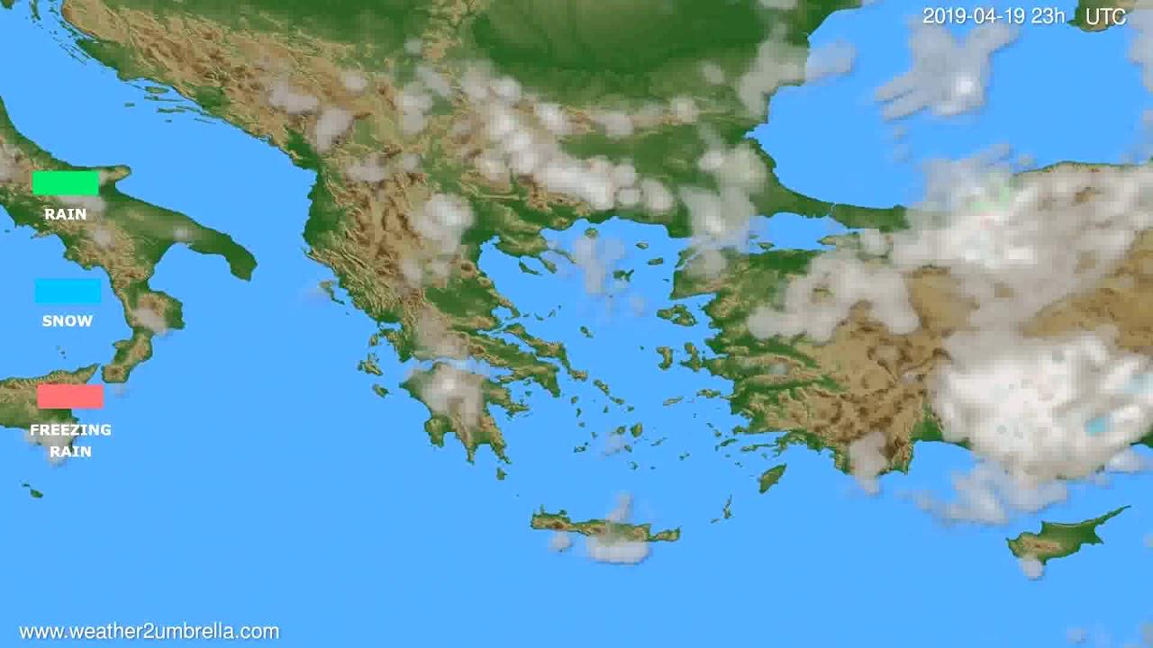 Precipitation forecast Greece // modelrun: 12h UTC 2019-04-16