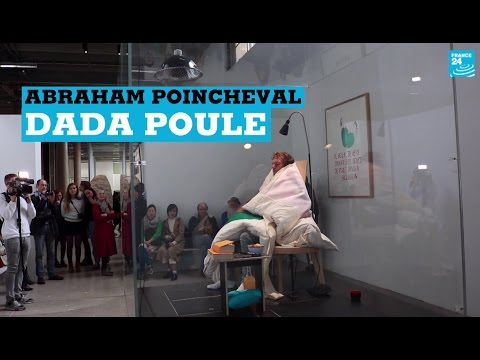 "Abraham Poincheval -Performance ""Oeuf"""