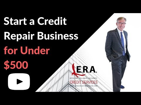 Start a Credit Repair Business for Under $500