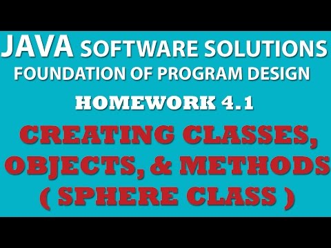 Java Creating Sphere Class using Java OOP principles (Ex 4.1)
