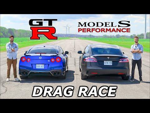 2020 Tesla Model S Performance vs Nissan GT-R // DRAG & ROLL RACE