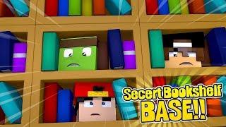 MINECRAFT SECRET BASE - How to build a base in a secret bookshelf!