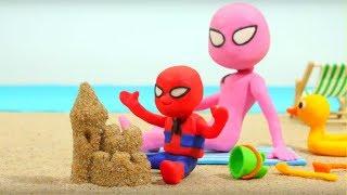 Video Spiderman Baby & Spidergirl Play Doh Cartoons - Superhero Babies, Frozen Elsa & Hulk Stop Motion MP3, 3GP, MP4, WEBM, AVI, FLV Juni 2018