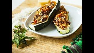 Videoricetta: zucchine ripiene di riso e carne