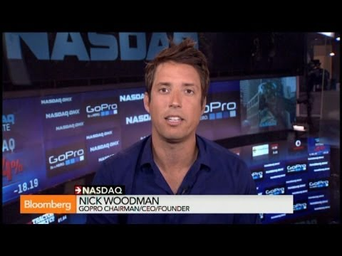 nasdaq - June 26 (Bloomberg) -- Nicholas Woodman, founder and chief executive officer of GoPro Inc., talks about the company's initial public offering, competition in...