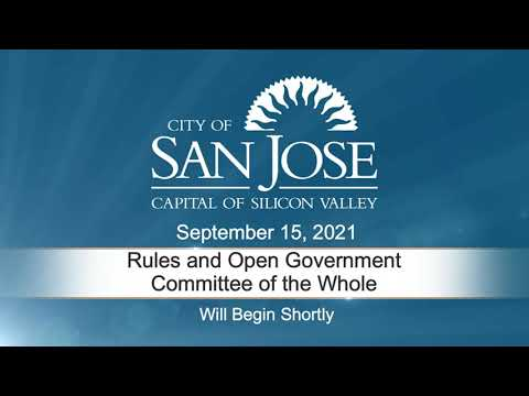 SEP 15 2021 Rules & Open Government
