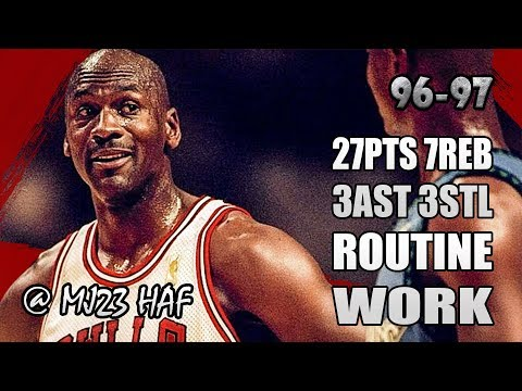 Michael Jordan Highlights vs Timberwolves (1996.12.11) - 27pts, Routine Work!