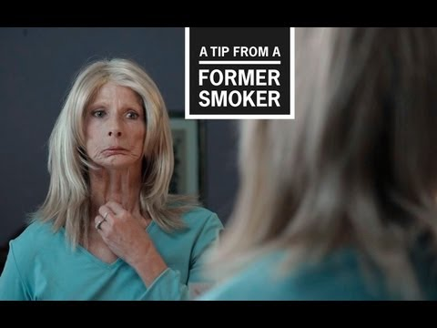 former - Smoking causes cancer. In this TV ad for CDC's 