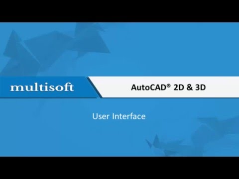 AutoCAD User Interface Training