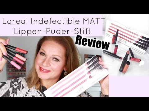 L´oreal Indefectible MATT Lippen-Puder-Stift Review / Mamacobeauty
