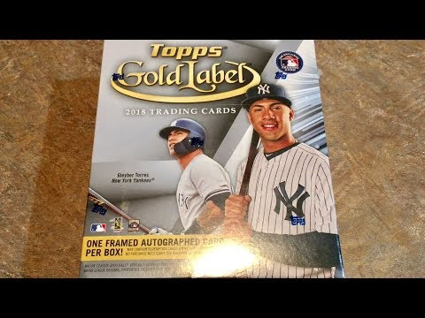 NEW RELEASE!  2018 TOPPS GOLD LABEL. GUARANTEED FRAMED AUTOGRAPH CARD PER BOX!