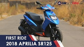 7. 2018 Aprilia SR125 First Ride Review | NDTV carandbike