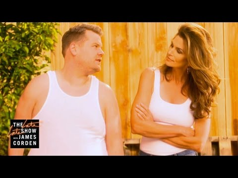 Cindy Crawford Recreates Pepsi Commercial with James Corden