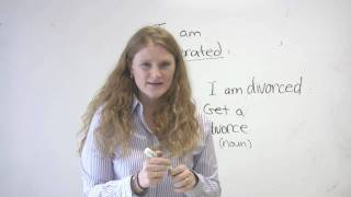 English Vocabulary - Marriage and Divorce
