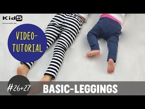 Leggings für Babys und Kids ganz einfach selber nähen DIY-Näh-Tutorial