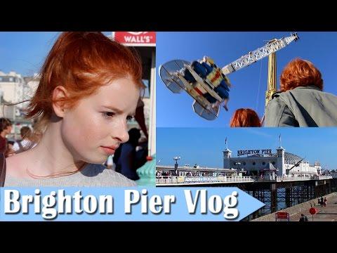 Brighton Pier Vlog, Scary Rollercoasters & Funfair Rides | NiliPOD