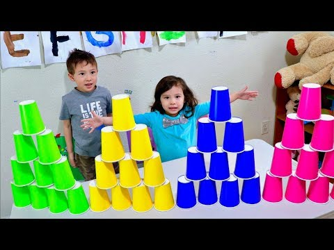 Video Learn Colors by Stacking Colored Cups for Children and Toddlers download in MP3, 3GP, MP4, WEBM, AVI, FLV January 2017
