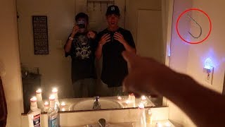 So we played the Candyman Challenge in the mirror and this happened! It was soooooo creepy. Please share this video with your friends if you enjoyed it!Support me for 100% FREE! http://gawkbox.com/mikeymanfs😃 SUBSCRIBE ► http://bit.ly/JOINTHELOCALS ★ PREVIOUS VIDEO ►https://www.youtube.com/watch?v=hx26WctWR1kMy second channel! https://www.youtube.com/channel/UC1FJGtvuzxU7Nq_mYiwxBsw★ TURN ON MY POST NOTIFICATIONS FOR SHOUTOUTS IN MY VLOG★---------------★FOLLOW MY SOCIAL MEDIA► (pls :)★MY INSTAGRAM► (@Mikeymanfs) http://instagram.com/mikeymanfsMY TWITTER► @Mikeymanfs) http://twitter.com/mikeymanfsMY FACEBOOK► https://www.facebook.com/mikeymanfsMY SNAPCHAT► mikeymanfss---------------★PO BOX!★Mike ManfrePO Box 25Bayville NJ 08721---------------★How to get a SHOUTOUT!★-Be SUBSCRIBED to my YouTube channel.-Take a screenshot of my page.-Post it on your Instagram.-Hashtag #MikeyManfs and tag me (@MikeyManfs) in the photo.----------------Outro music = Another Day in Paradise https://soundcloud.com/quinnxcii-----------------Ademir:https://www.youtube.com/channel/UCp5Lou0WVg28V5LhFt-rv2Q-----------------★A little about me★Hey Guys! Mikey Manfs here! A little about myself, I make awesome 24 Hour Challenge and Overnight Challenge videos! As well as hilarious and funny Walmart videos, 3 AM challenges! You want to see the funniest pranks on youtube? Hit that subscribe button! Really interesting and funny vlogs as well!