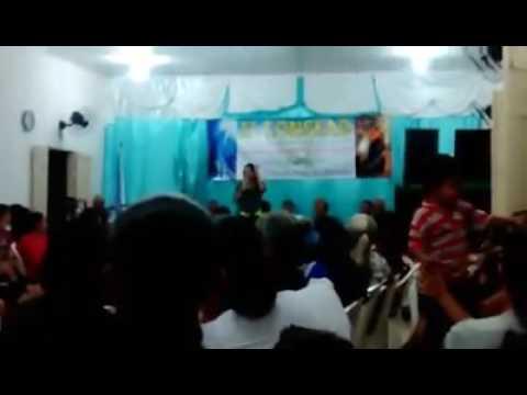 Cantora Eliude, culto com a mocidade, lagoa do barro Piauí.