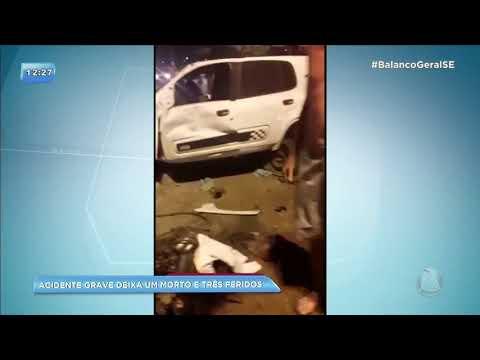 160 KM: Acidente grave deixa um morto e três feridos em Aracaju