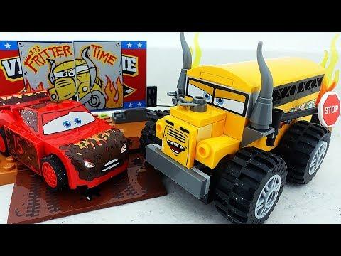 Машинки Тачки 3 Молния Маквин Лего Мультики про Машинки Гонки на Выживание Мисс Крошка Cars 3 LEGO