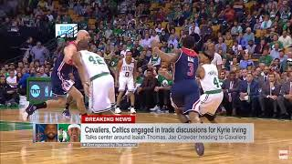Stephen A. Smith reacts to news that the Cleveland Cavaliers have agreed to trade Kyrie Irving to the Boston Celtics for Isaiah...