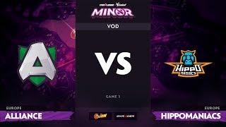 [RU] Alliance vs Hippomaniacs, Game 1, StarLadder ImbaTV Minor S2 EU Qualifiers